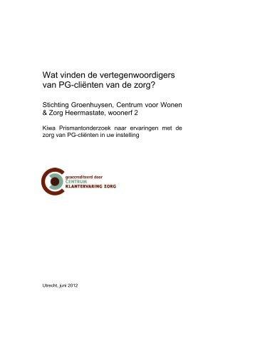 Cliëntwaarderingsonderzoek Heerma State woonerf 2 - Stichting ...