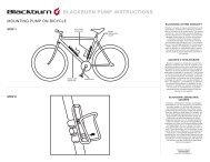 BLACKBURN PUMP INSTRUCTIONS - Grofa
