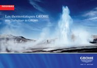 Les thermostatiques GROHE