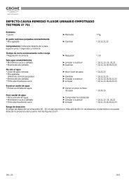defecto-causa-remedio fluxor urinario empotrado tectron 37 ... - Grohe