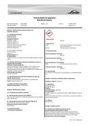 Ficha de Dados de Segurança Dióxido de Carbono - Grohe