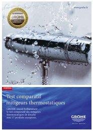 Test comparatif mitigeurs thermostatiques