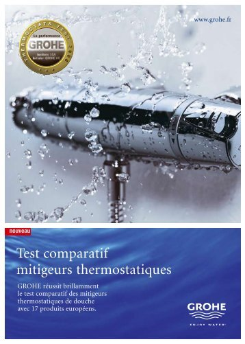 Test comparatif mitigeurs thermostatiques