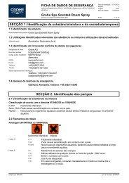 Sicherheitsdatenblatt 1615500/GRO 008 (pt-PT) - Grohe