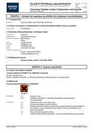 Sicherheitsdatenblatt 40456045 (fi-FI) - Grohe