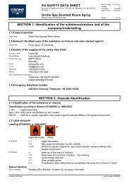 Sicherheitsdatenblatt 1615500/GRO 008 (en-GB) - Grohe