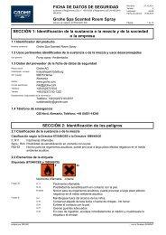 Sicherheitsdatenblatt 1615500/GRO 008 (es-ES) - Grohe