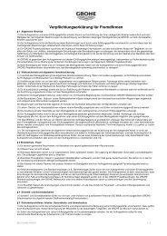 Verpflichtungserklärung für Fremdfirmen - Grohe