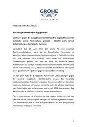PRESSE-INFORMATION EU-Bußgeldentscheidung gefallen