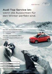 Audi Top Service ist: wenn die Aussichten für ... - Tauwald Automobile