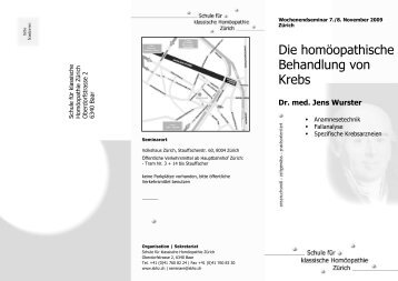 Die homöopathische Behandlung von Krebs - Klassische ...