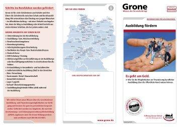 Ausbildung fördern - Stiftung Grone-Schule