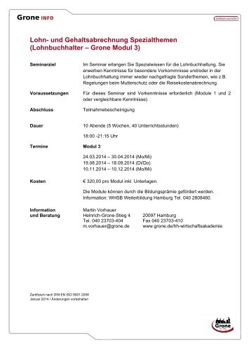 Lohnbuchhalter – Grone Modul 2