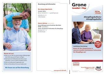 Altenpflegehelferin/ Altenpflegehelfer - Stiftung Grone-Schule