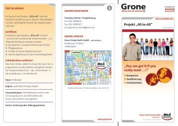 "Projekt ""All-in-All"" - Stiftung Grone-Schule"