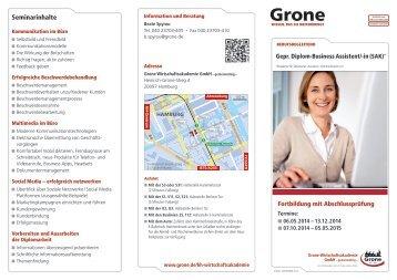 Seminarinhalte - Stiftung Grone-Schule