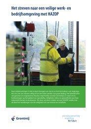 Het streven naar een veilige werk- en bedrijfsomgeving ... - Grontmij