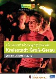 aktuellen Veranstaltungskalender als PDF - Groß-Gerau