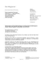 Stellungnahme Lärmaktionsplan - Groß-Gerau