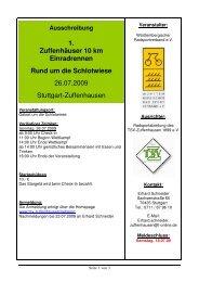 Ausschreibung 1. Zuffenhäuser 10 km Einradrennen ... - brv-ev.de