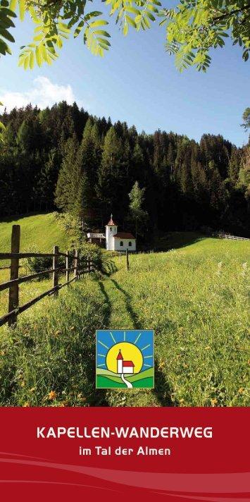 Kapellenwanderweg Prospekt downloaden