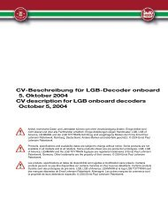 CV-Beschreibung für LGB-Decoder onboard 5 ... - Modell-Land