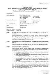 Ergebnisprotokoll der 30. Sitzung des Ausschusses ... - Großbeeren