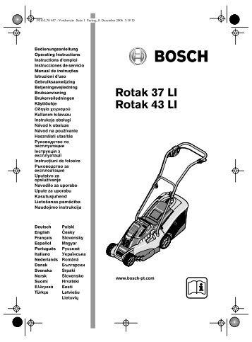 rotak 37 as new bosch rotak li cordless lawn mower with. Black Bedroom Furniture Sets. Home Design Ideas