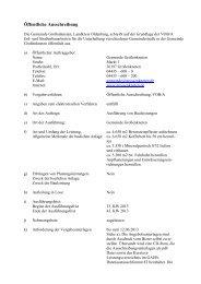 Öffentliche Ausschreibung - Gemeinde Großenkneten