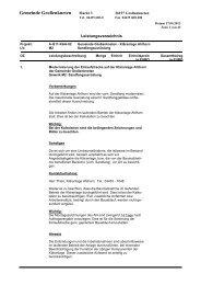 Leistungsverzeichnis zu Gewerk M2 - Gemeinde Großenkneten