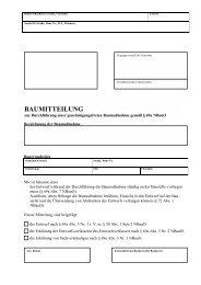 BAUMITTEILUNG