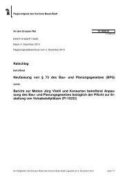 13.1835.01, Ratschlag des RR - Grosser Rat - Kanton Basel-Stadt