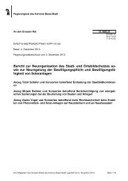 13.1892.01, Bericht des RR - Grosser Rat - Kanton Basel-Stadt