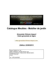 Catalogue Mobilier de jardin - Grossiste chinois import