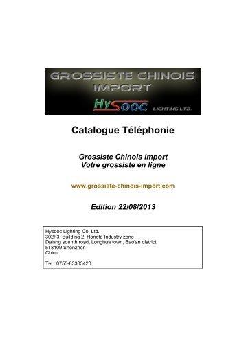 Téléchargez le catalogue PDF Téléphonie - Grossiste chinois import