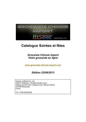 Téléchargez le catalogue PDF Soirées et fêtes - Grossiste chinois ...