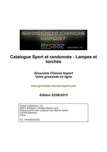 Lampes et torches - Grossiste chinois import