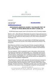 grosvenor americas leases 7304 square feet of space to rosa ...