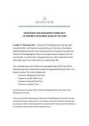 UK PROPERTY INVESTMENT HOUSE OF THE YEAR - Grosvenor