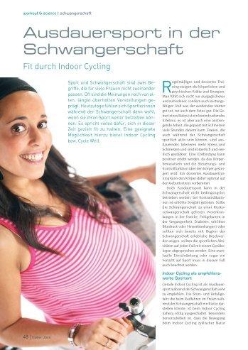 Ausdauersport in der Schwangerschaft - Tanja Schweitzer