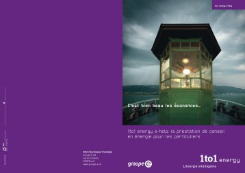 Brochure 1to1 energy e-help - Groupe E
