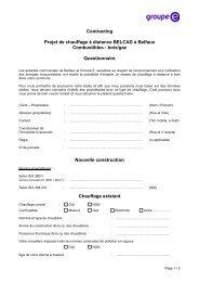 Contracting Projet de chauffage à distance BELCAD à ... - Groupe E