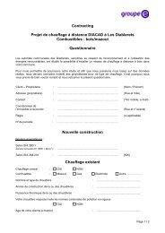 Contracting Projet de chauffage à distance DIACAD à ... - Groupe E