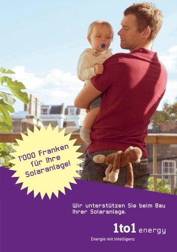 1'OOO Franken für Ihre Solaranlage! - Groupe E