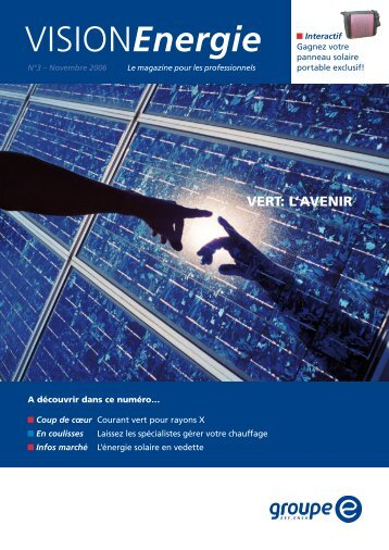 Vision Energie no 3 - Groupe E