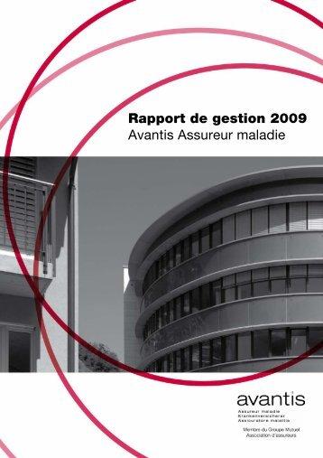 Avantis Assureur maladie 2009 - PDF - Groupe Mutuel