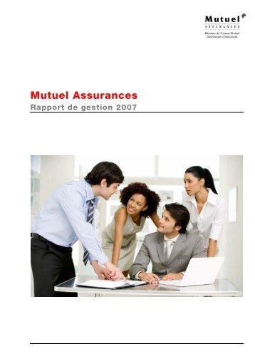 Mutuel Assurances 2007 - PDF, (336Kb) - Groupe Mutuel