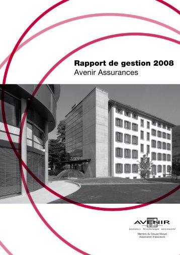 Avenir Assurances 2008 - PDF - Groupe Mutuel