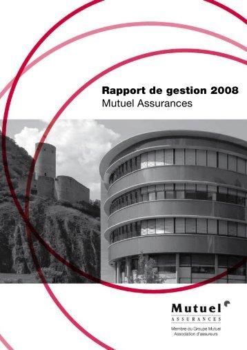 Mutuel Assurances 2008 - PDF - Groupe Mutuel