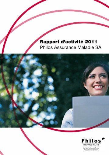 Philos Assurance Maladie SA 2011 - PDF - Groupe Mutuel